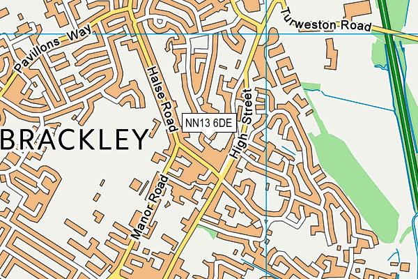NN13 6DE map - OS VectorMap District (Ordnance Survey)