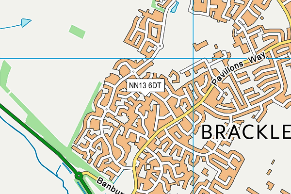 NN13 6DT map - OS VectorMap District (Ordnance Survey)