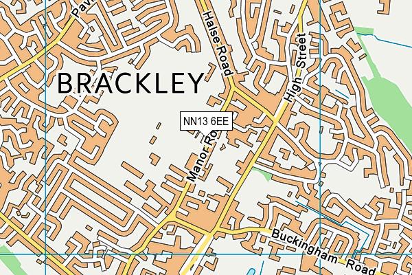 Brackley Church of England Junior School map (NN13 6EE) - OS VectorMap District (Ordnance Survey)