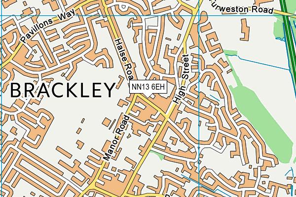 NN13 6EH map - OS VectorMap District (Ordnance Survey)