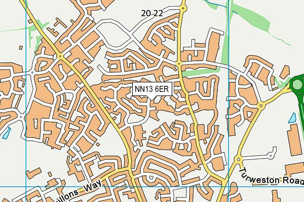 NN13 6ER map - OS VectorMap District (Ordnance Survey)