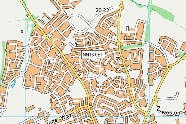 NN13 6ET map - OS VectorMap District (Ordnance Survey)