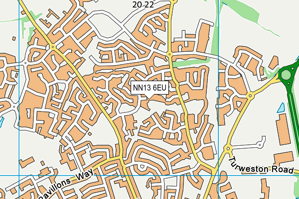 NN13 6EU map - OS VectorMap District (Ordnance Survey)