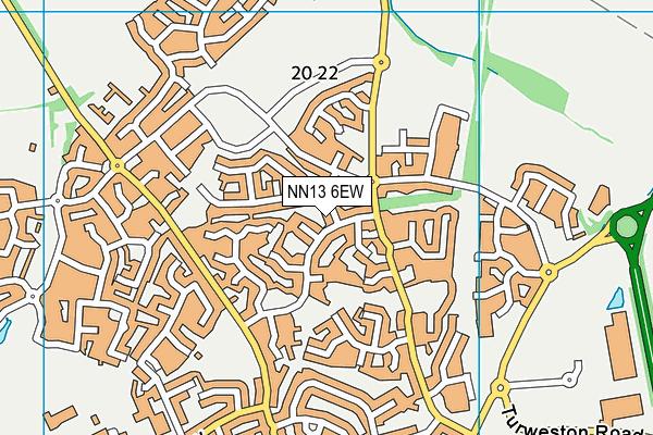 NN13 6EW map - OS VectorMap District (Ordnance Survey)