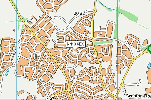 NN13 6EX map - OS VectorMap District (Ordnance Survey)