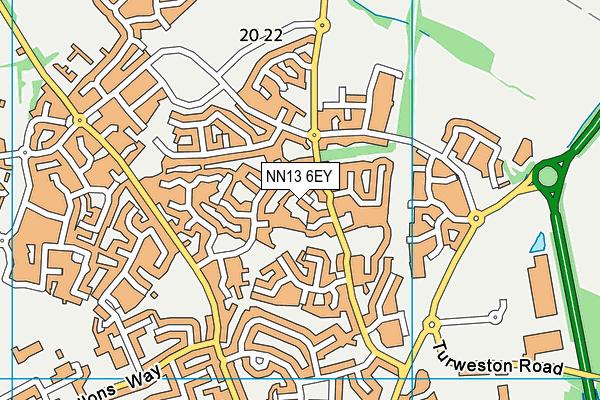 NN13 6EY map - OS VectorMap District (Ordnance Survey)