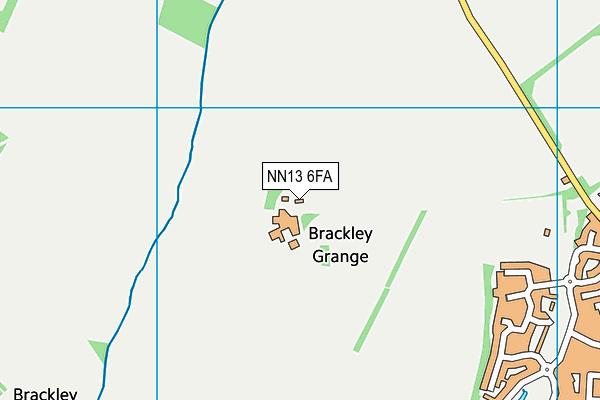NN13 6FA map - OS VectorMap District (Ordnance Survey)