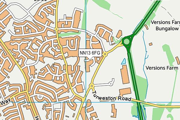 NN13 6FG map - OS VectorMap District (Ordnance Survey)