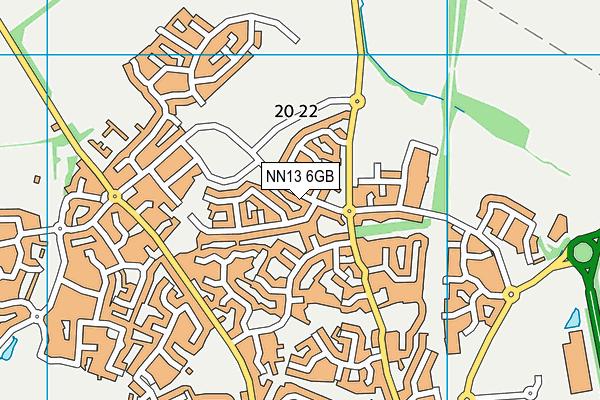 NN13 6GB map - OS VectorMap District (Ordnance Survey)