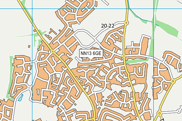 NN13 6GE map - OS VectorMap District (Ordnance Survey)
