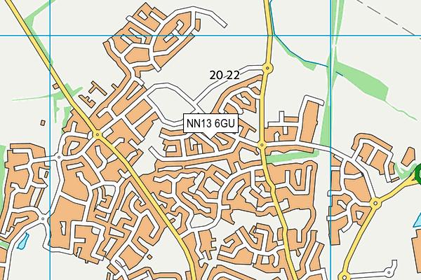 NN13 6GU map - OS VectorMap District (Ordnance Survey)