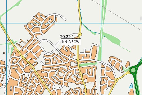 NN13 6GW map - OS VectorMap District (Ordnance Survey)