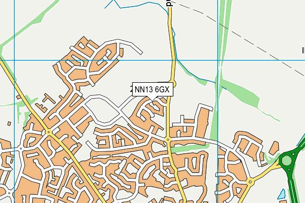 NN13 6GX map - OS VectorMap District (Ordnance Survey)