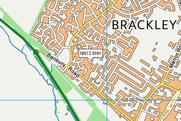 NN13 6HH map - OS VectorMap District (Ordnance Survey)