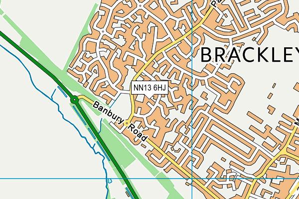 NN13 6HJ map - OS VectorMap District (Ordnance Survey)