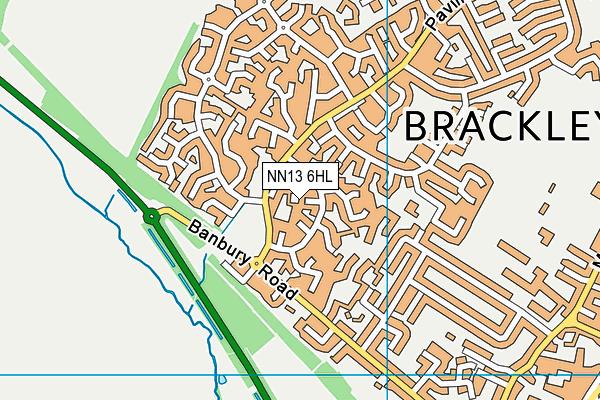 NN13 6HL map - OS VectorMap District (Ordnance Survey)