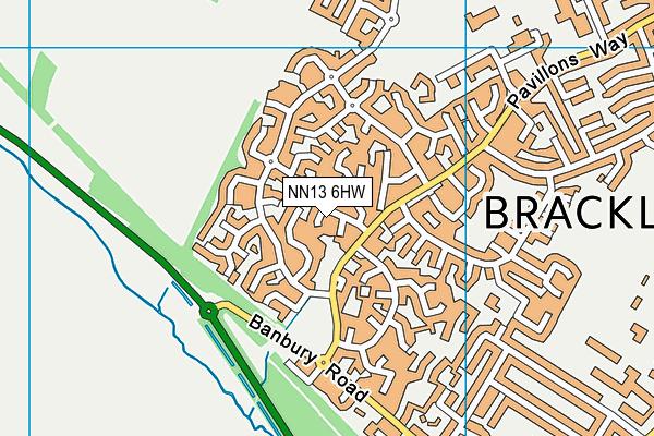 NN13 6HW map - OS VectorMap District (Ordnance Survey)