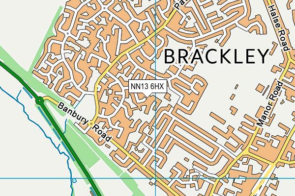NN13 6HX map - OS VectorMap District (Ordnance Survey)