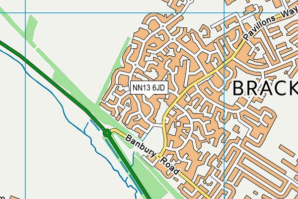 NN13 6JD map - OS VectorMap District (Ordnance Survey)