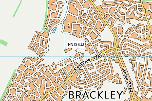 Brackley Leisure Centre map (NN13 6JJ) - OS VectorMap District (Ordnance Survey)
