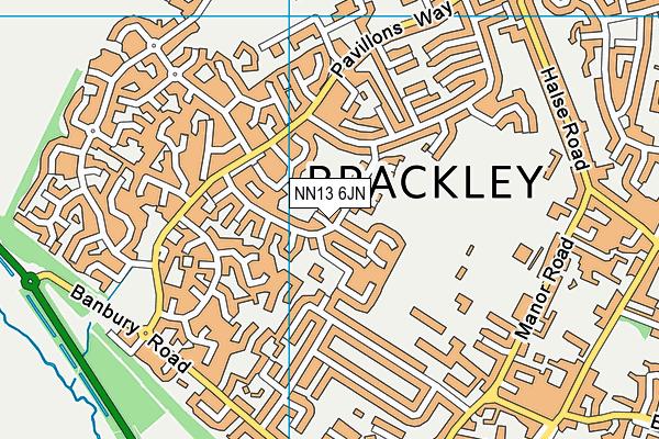 NN13 6JN map - OS VectorMap District (Ordnance Survey)