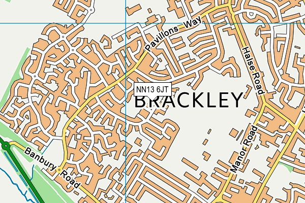 NN13 6JT map - OS VectorMap District (Ordnance Survey)