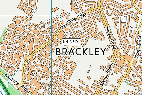 NN13 6JY map - OS VectorMap District (Ordnance Survey)