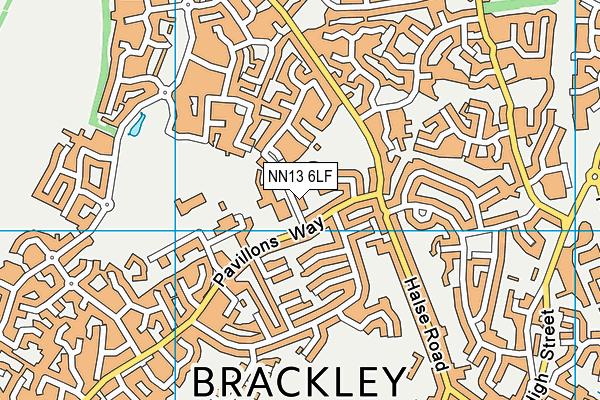 Bracken Leas Primary School map (NN13 6LF) - OS VectorMap District (Ordnance Survey)