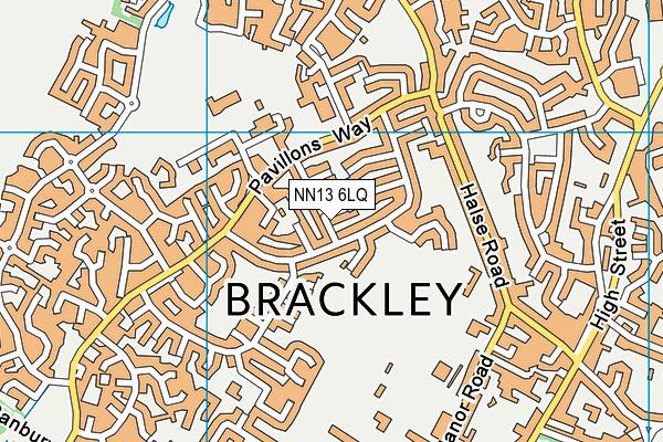 NN13 6LQ map - OS VectorMap District (Ordnance Survey)