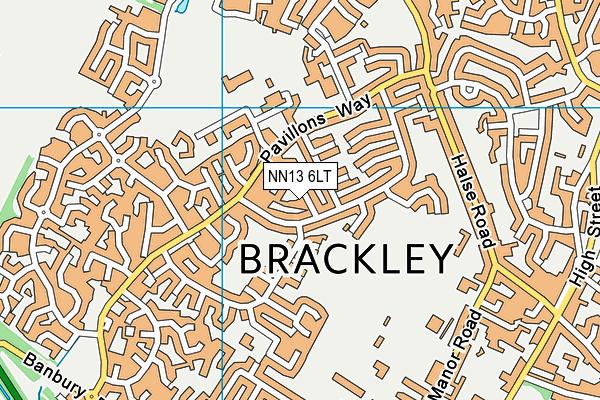 NN13 6LT map - OS VectorMap District (Ordnance Survey)