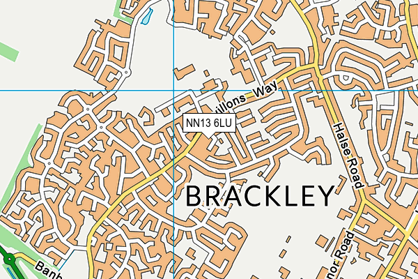 NN13 6LU map - OS VectorMap District (Ordnance Survey)