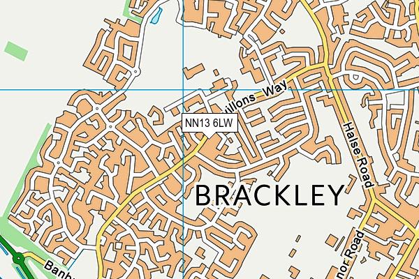 NN13 6LW map - OS VectorMap District (Ordnance Survey)