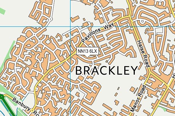NN13 6LX map - OS VectorMap District (Ordnance Survey)