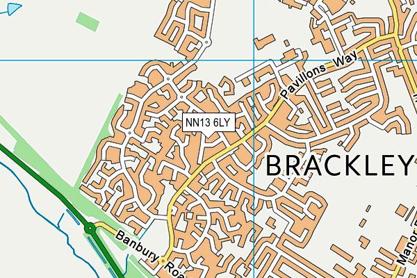 NN13 6LY map - OS VectorMap District (Ordnance Survey)
