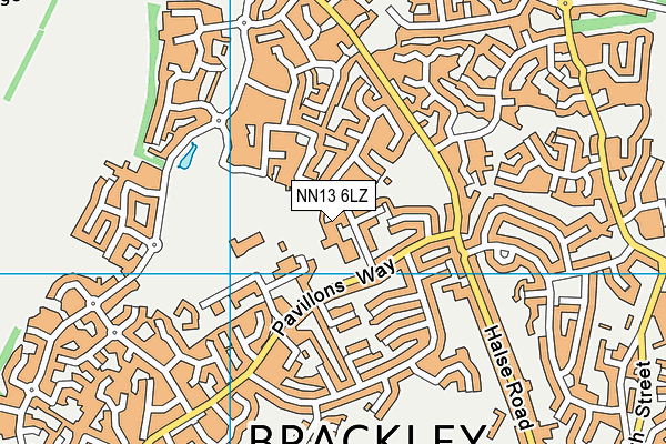 NN13 6LZ map - OS VectorMap District (Ordnance Survey)