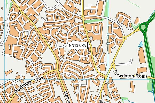NN13 6PA map - OS VectorMap District (Ordnance Survey)