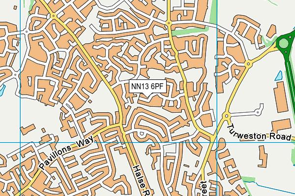 NN13 6PF map - OS VectorMap District (Ordnance Survey)