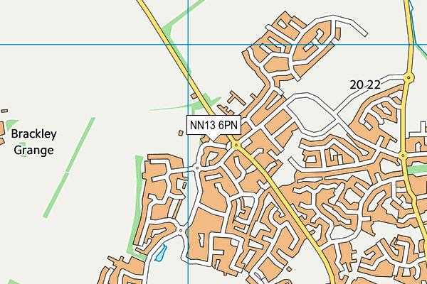 Nightingale Close map (NN13 6PN) - OS VectorMap District (Ordnance Survey)