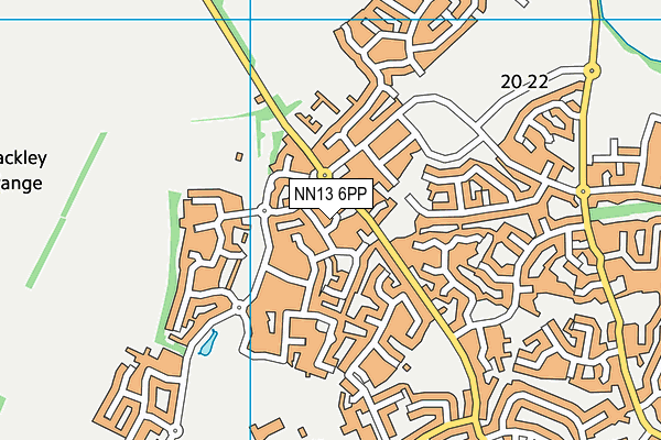 NN13 6PP map - OS VectorMap District (Ordnance Survey)