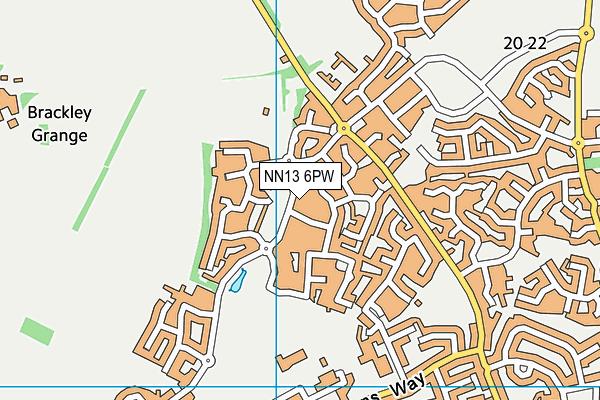 NN13 6PW map - OS VectorMap District (Ordnance Survey)