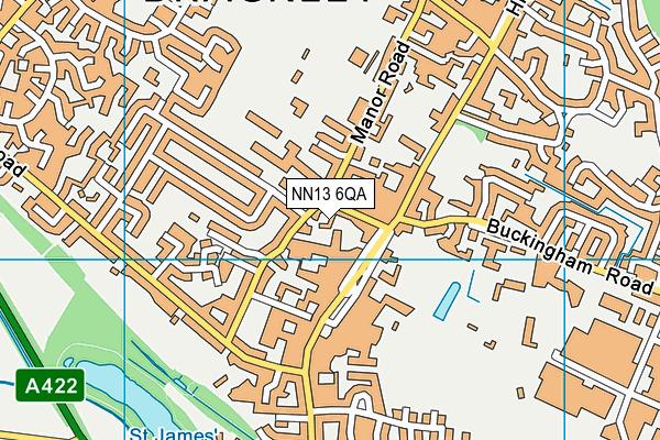 NN13 6QA map - OS VectorMap District (Ordnance Survey)