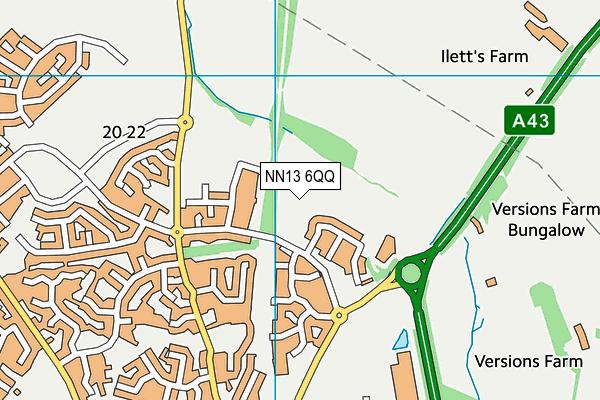 NN13 6QQ map - OS VectorMap District (Ordnance Survey)