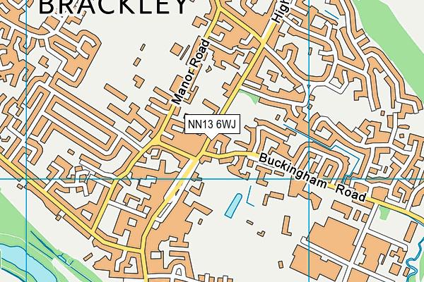 NN13 6WJ map - OS VectorMap District (Ordnance Survey)