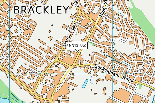 NN13 7AZ map - OS VectorMap District (Ordnance Survey)