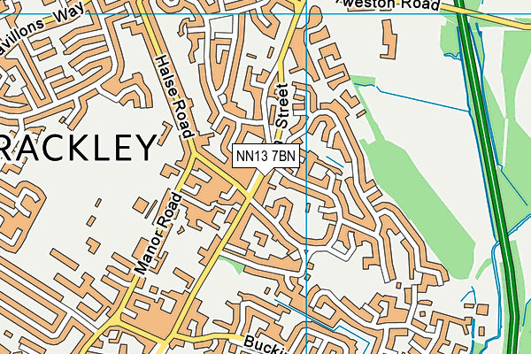 NN13 7BN map - OS VectorMap District (Ordnance Survey)