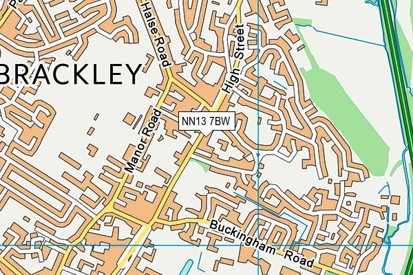 NN13 7BW map - OS VectorMap District (Ordnance Survey)