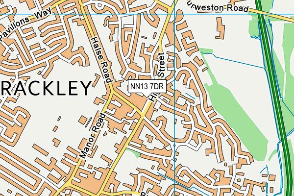 NN13 7DR map - OS VectorMap District (Ordnance Survey)