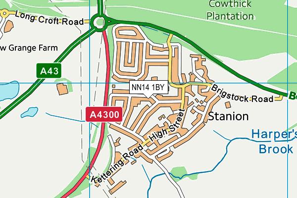 NN14 1BY map - OS VectorMap District (Ordnance Survey)