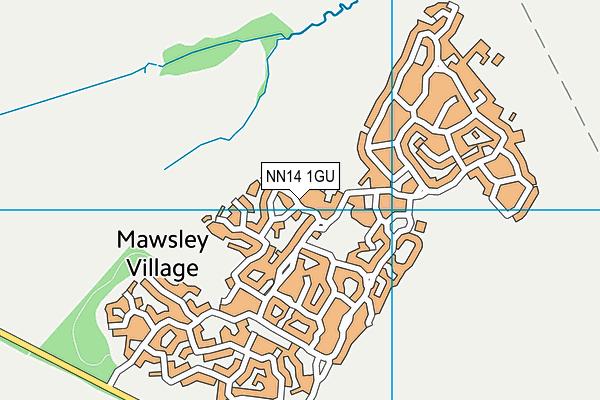 NN14 1GU map - OS VectorMap District (Ordnance Survey)