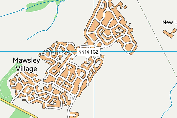 Mawsley Primary School map (NN14 1GZ) - OS VectorMap District (Ordnance Survey)